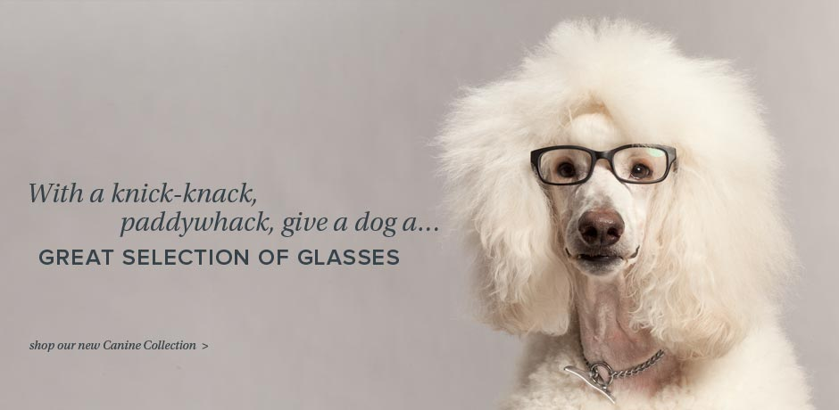 With a knick-knack, paddywack, give a dog a... Great Selection of Glasses. Shop our new Canine Collection